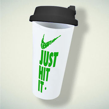 just hit it Nike Parody Pipe Weed 420 419 For Double Wall Plastic Mug ***