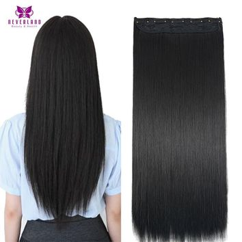 Straight pure Black Synthetic Hair