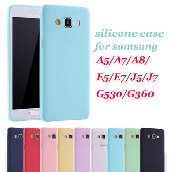 Cute girl Soft tpu Silicone Case for Samsung Galaxy J5 J7 A5 A7 A8 2015 grand prime g530 core prime g360 E5 E7 Back Cover Coque