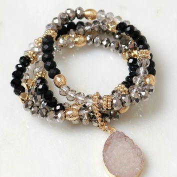 It's Bead-utiful Bracelet Set Black