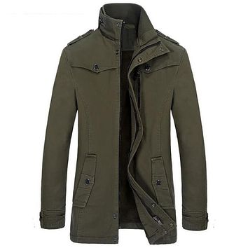 Winter Style Military Trench Jackets For Men Casual Male Cargo Jacket Coats For Sale Men Long Black Trench Coat Men S2705