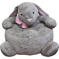 Childrens plush bunny chair