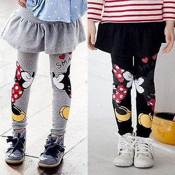 Baby Girls Minnie Mouse Skirt Pants Leggings