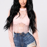 Crop Star Top - Pink