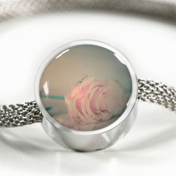 Coral Rose Passion - Charm Bracelets for Women [Custom Jewelry]