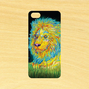 Lion Psychedelic Art iPhone 4/4S 5/5C 6/6+ and Samsung Galaxy S3/S4/S5 Phone Case