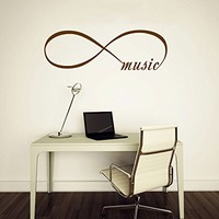 Wall Decal Vinyl Sticker Decals Art Home Decor Murals Quote Decal Infinity Symbol Wall Decal Infinity Loop Music Bedroom Home Decor Decals Vinyl Lettering V961