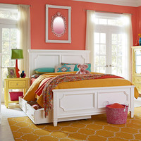 Standard Furniture Watercolor 2 Piece Kids' Panel Bedroom Set w/ Storage