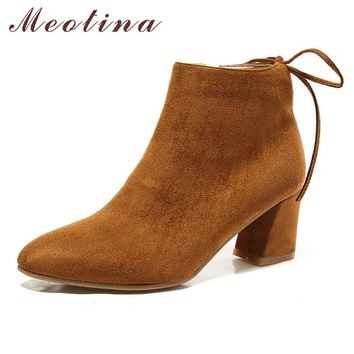 Meotina Boots Women Ankle Boots