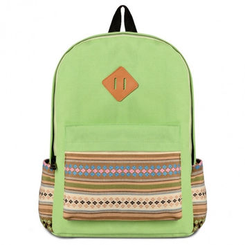 Fashion Korean Casual Canvas Hiking Shoulder Bag Backpack Rucksack School Satchel Book Bag