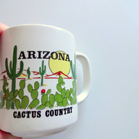 Vintage Arizona Souvenir Coffee Mug 1980s