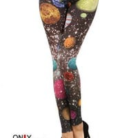 Galaxy Planet Leggings - Leggings Superstore