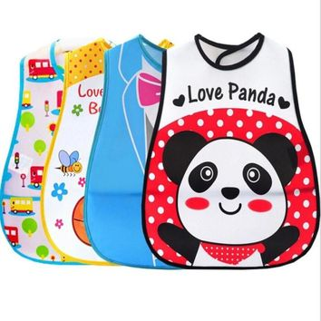 2017 Baby & Kids Cute Cartoon EVA Bibs Waterproof Bandana Silicone Baby Bibs Boys Girls Infants Feeding Care Burp Clothes