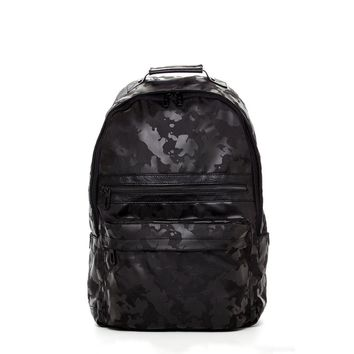 Vegan leather Camouflage Backpack