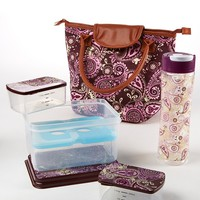 Fit & Fresh Avery Purple Cream Paisley Lunch Kit | Dillards