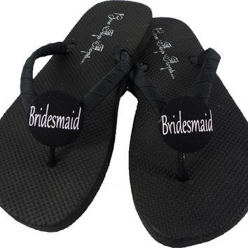 Bridesmaid Flip Flops: Design your own for the Wedding