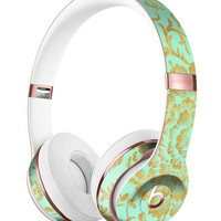 Mint and Gold Floral v2 Full-Body Skin Kit for the Beats by Dre Solo 3 Wireless Headphones