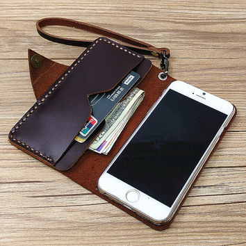 wristlet iphone 6s case leather iPhone 6 wallet case iPhone 6s plus case wallet iPhone 6 case leather iPhone 6 plus monogram vintage case