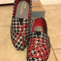 Alabama Gameday Toms Shoes by SaturdaysInTheSouth on Etsy