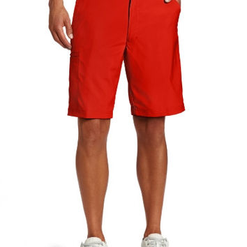 PGA TOUR Men's Comfort Stretch Flat Front Cargo Golf Shorts - Lollipop Red, 38W