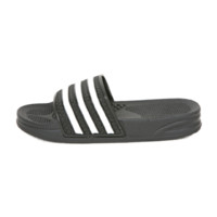 Black White Stripe Slides