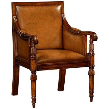 Windsor Leather Bergere Chair