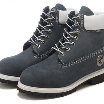 Fashion Hiking Boots For Timberland Women's High 10061 Navy Blue