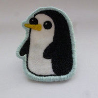 Penguin Embroidered Patch Gunter - Adventure Time Brooch or Ornament