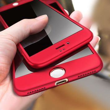 Luxury 360 Degree Protection Shockproof Phone Cases for Iphone8 8plus 7 7plus 6 6s 6plus Full Body Hard Cover Case Mobile Shells