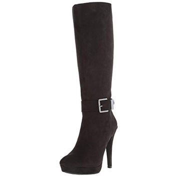 2 Lips Too Womens Too Vista Faux Suede Platform Knee-High Boots