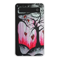 High and Dry Hearts Trees Goth Love Original Art Power Bank