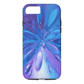 colorful blue abstract iPhone 8/7 case
