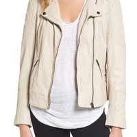 cupcakes and cashmere Darby Leather Moto Jacket   Nordstrom