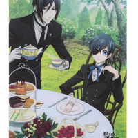 Black Butler Sebastian & Ciel Tea Time Wall Scroll | Hot Topic