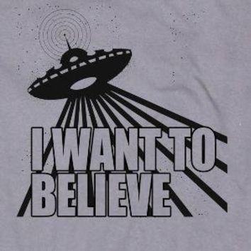 I Want To Believe Alien Spaceship Flying Saucer by happyfamily