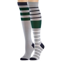Timberland Women's Striped Knee High Sock 2Pk Style #Th426