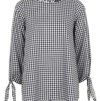 Gingham Tie Sleeve Top - New In This Week - New In