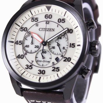 Citizen Eco-Drive Aviator Chronograph CA4215-04W Men's Watch