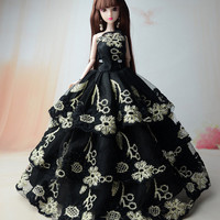 "NK New Fashion Handmade Lace Dress Party Dress Clothes Gown For 11"" Barbie Doll"