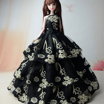 """NK New Fashion Handmade Lace Dress Party Dress Clothes Gown For 11"""" Barbie Doll"""