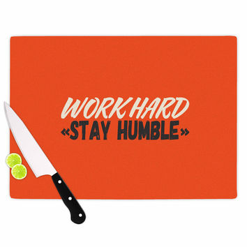 "Juan Paolo ""Work Hard Stay Humble"" Digital Vintage Cutting Board"