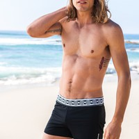 Sauvage Designer Black Swim Shorts - Roman Swimmer