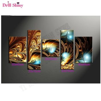 New5d diy diamond painting full drill resin Diamond embroidery triptych painting rhinestones Modular wall paintings Hobby crafts