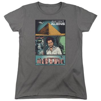 Ancient Aliens - Aliens Comic Page Short Sleeve Women's Tee