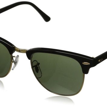 Ray-Ban RB 3016 W0365 Clubmaster Black / Green Crystal Frame Size: 49mm
