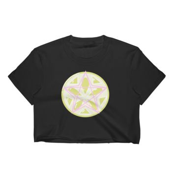 Pentagram Lime Crop Top