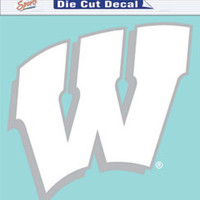 "Wisconsin Badgers Die-Cut Decal - 8""x8"" White"