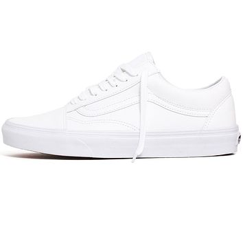 Classic Tumble Old Skool Sneakers True White