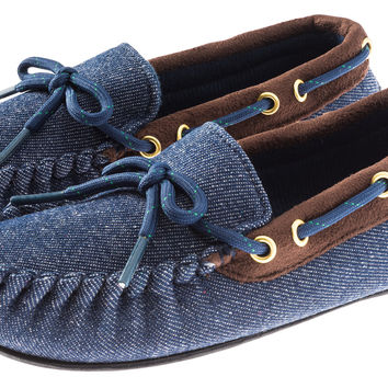 Boys All Over Denim Moccasin Shoe