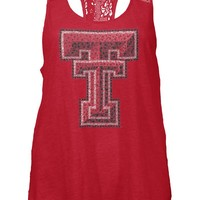 Texas Tech Red Raiders Womens Tank Top - Red Texas Tech Periwinkle Sleeveless Shirt